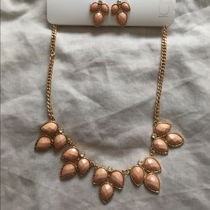 Coral Earrings and Necklace Set